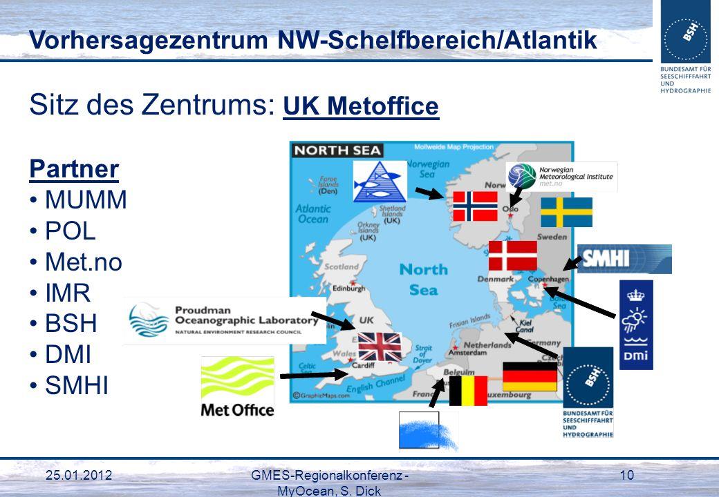 GMES-Regionalkonferenz - MyOcean, S. Dick
