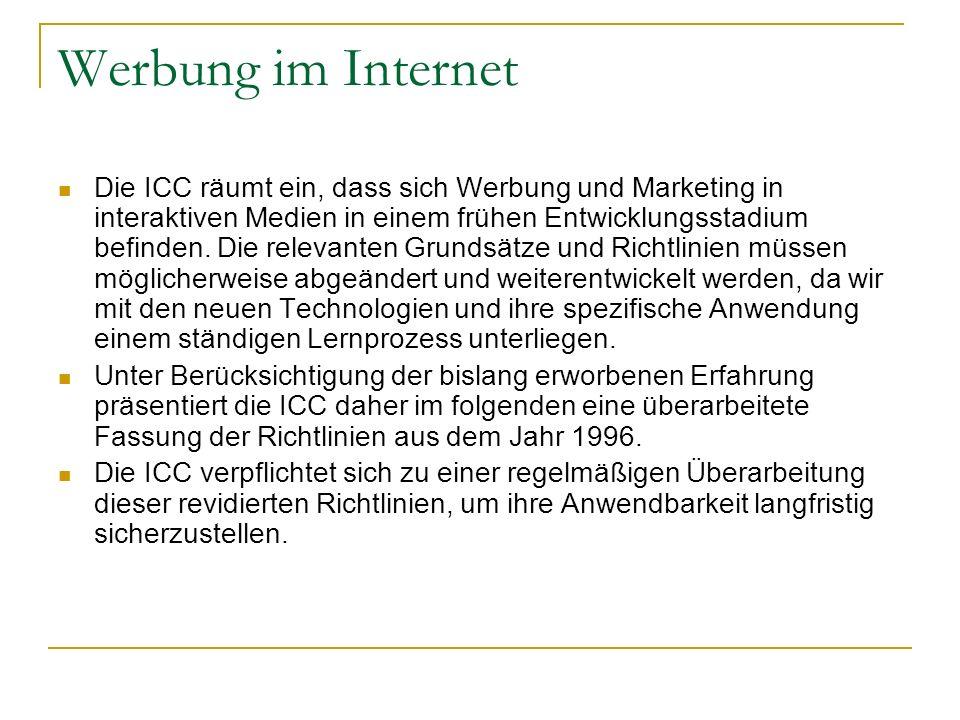 Werbung im Internet