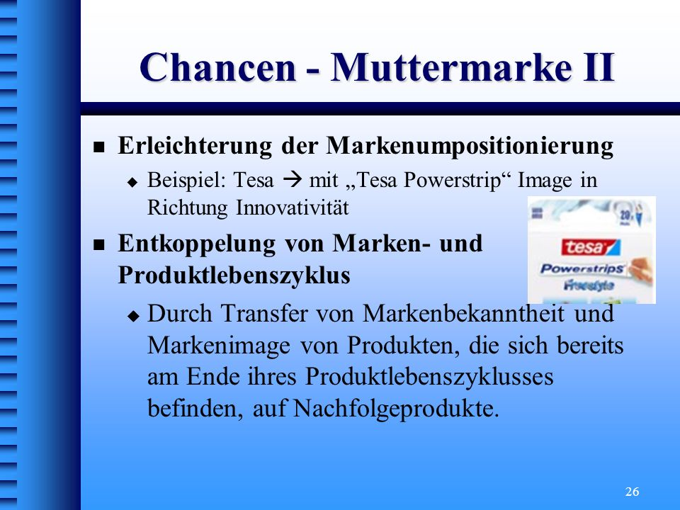 Chancen - Muttermarke II