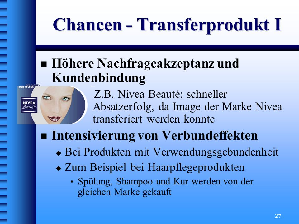 Chancen - Transferprodukt I