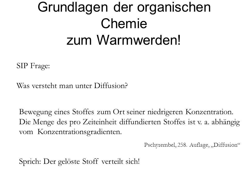 Grundlagen der organischen Chemie zum Warmwerden!