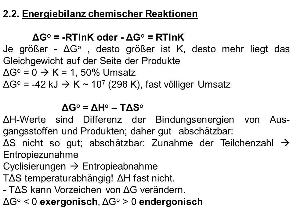 2.2. Energiebilanz chemischer Reaktionen