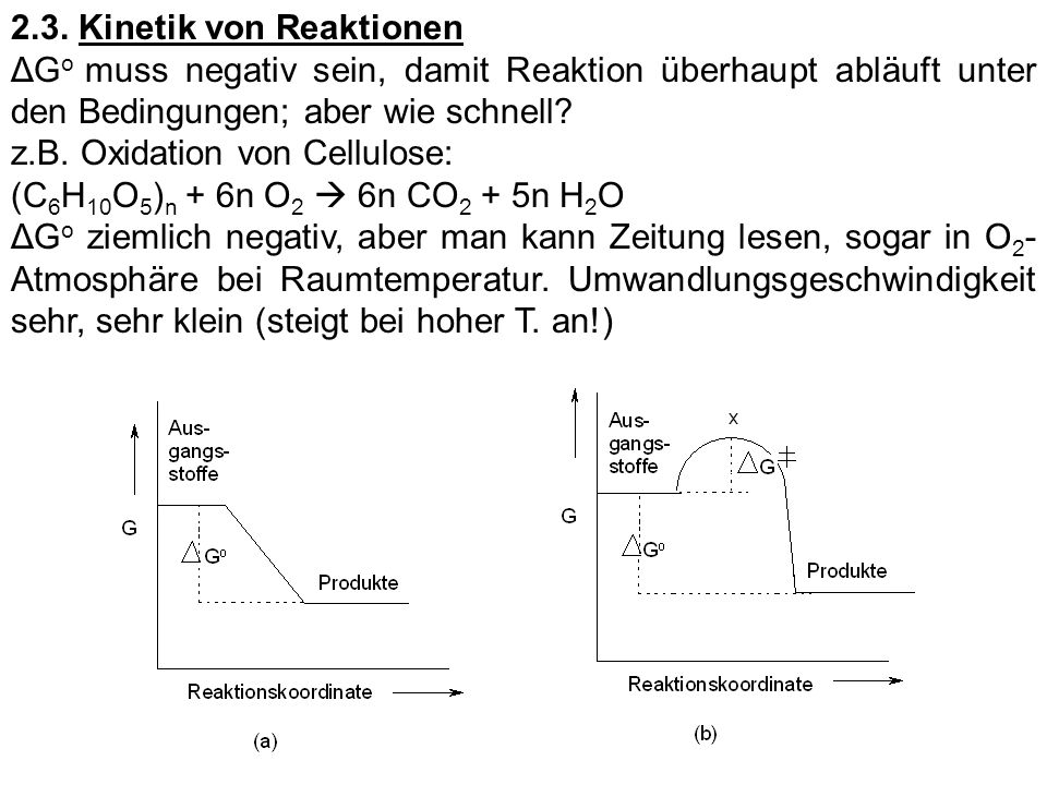 2.3. Kinetik von Reaktionen
