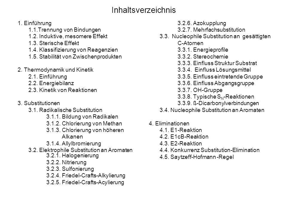 Inhaltsverzeichnis 1. Einführung 1.1.Trennung von Bindungen