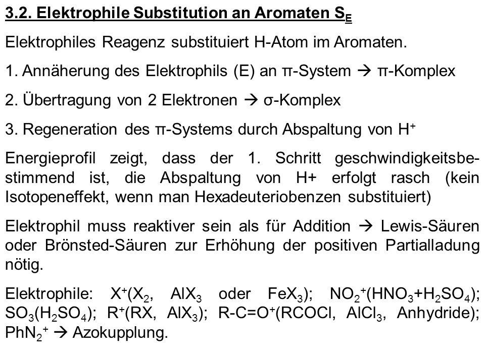 3.2. Elektrophile Substitution an Aromaten SE