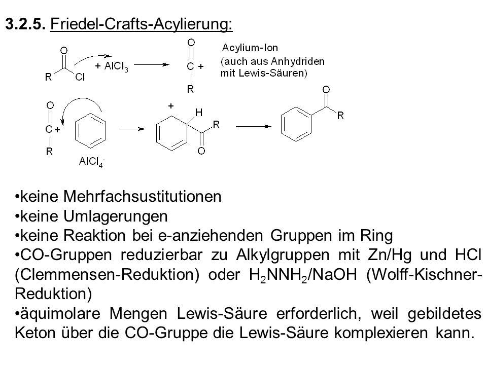 3.2.5. Friedel-Crafts-Acylierung: