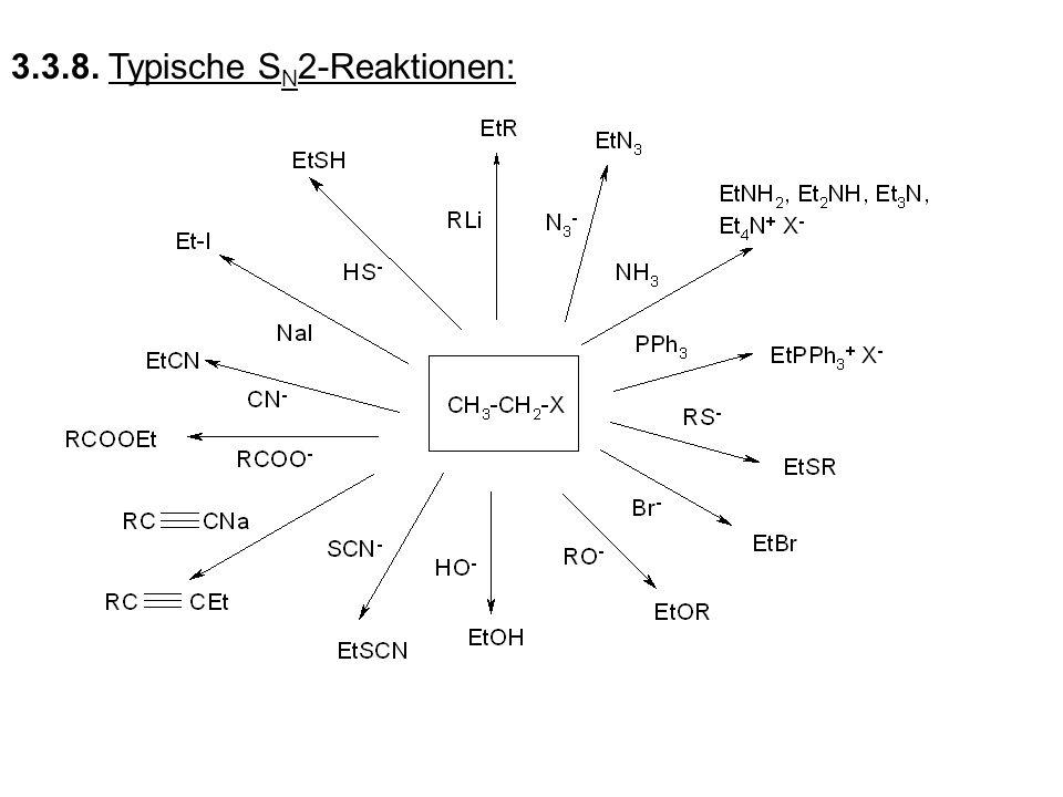3.3.8. Typische SN2-Reaktionen: