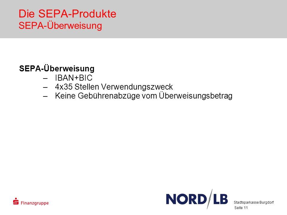 Die SEPA-Produkte SEPA-Überweisung