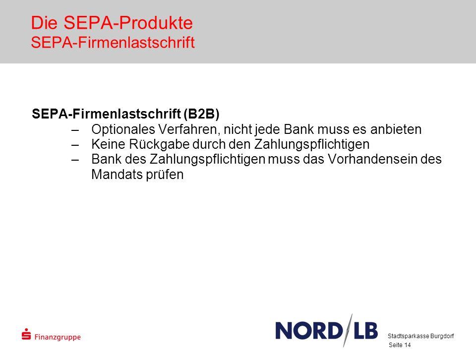 Die SEPA-Produkte SEPA-Firmenlastschrift