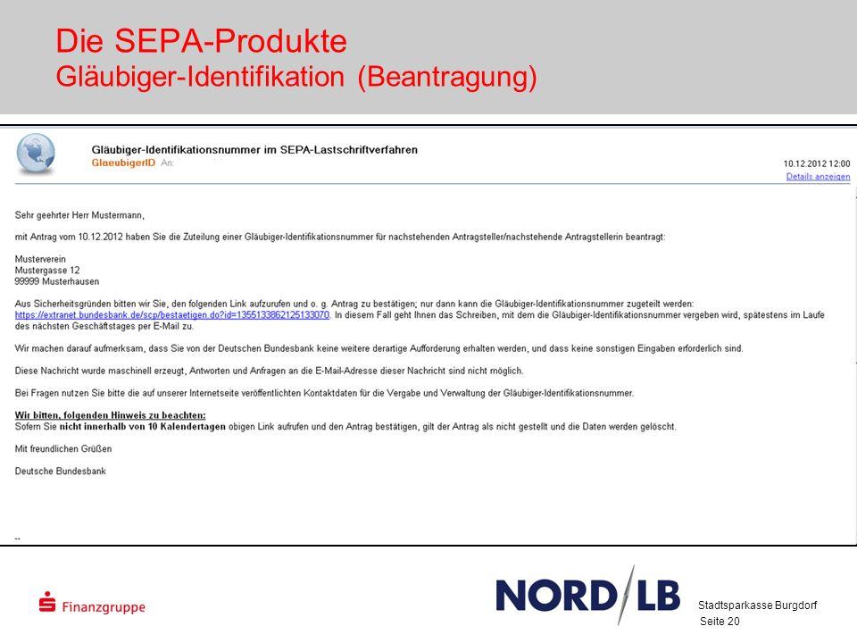 Die SEPA-Produkte Gläubiger-Identifikation (Beantragung)