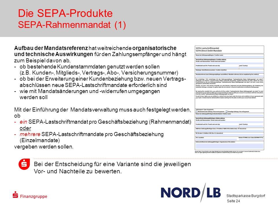 Die SEPA-Produkte SEPA-Rahmenmandat (1)