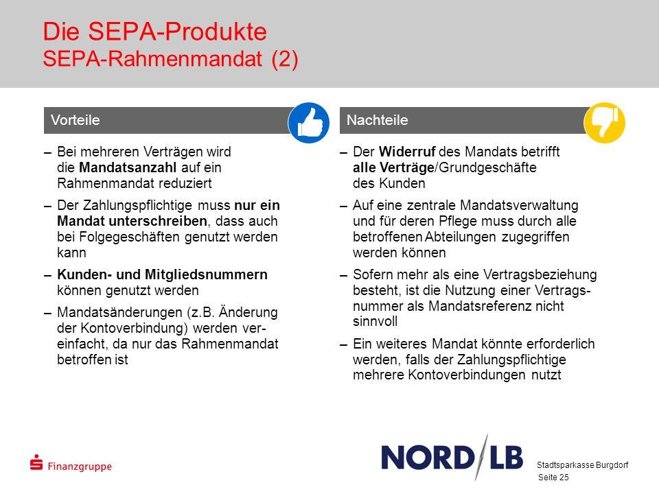 Die SEPA-Produkte SEPA-Rahmenmandat (2)