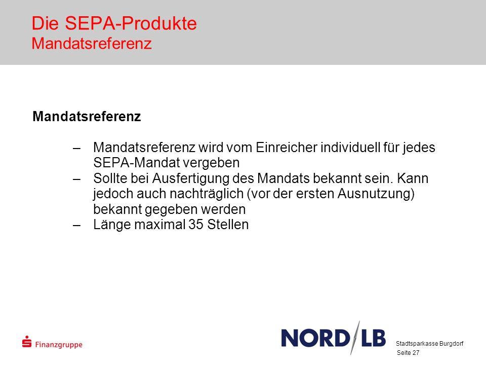 Die SEPA-Produkte Mandatsreferenz
