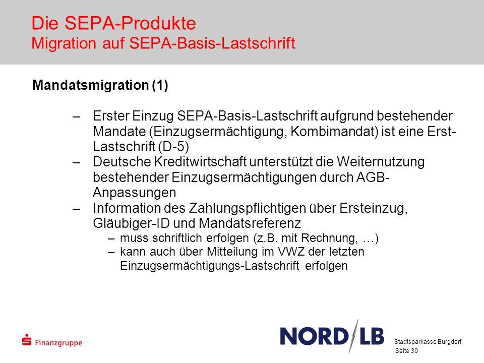 Die SEPA-Produkte Migration auf SEPA-Basis-Lastschrift