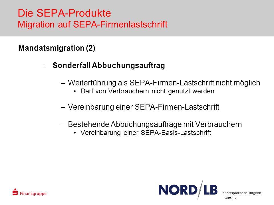 Die SEPA-Produkte Migration auf SEPA-Firmenlastschrift