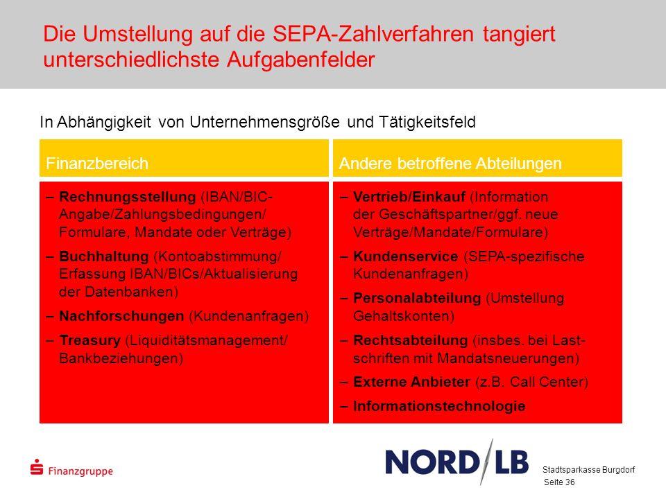 28.03.2017 Die Umstellung auf die SEPA-Zahlverfahren tangiert unterschiedlichste Aufgabenfelder.