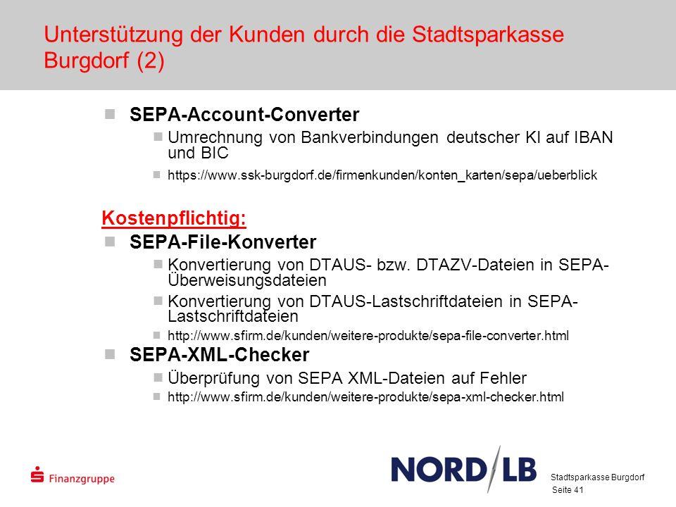 Unterstützung der Kunden durch die Stadtsparkasse Burgdorf (2)