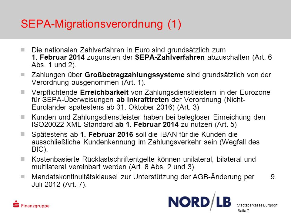 SEPA-Migrationsverordnung (1)