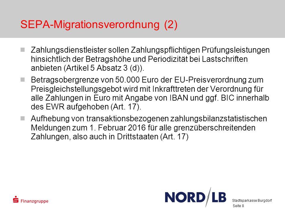 SEPA-Migrationsverordnung (2)