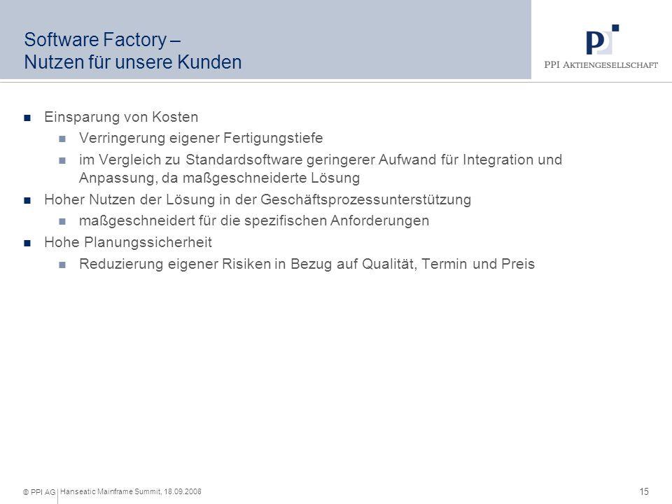 Produkte eBanking © PPI AG Hanseatic Mainframe Summit, 18.09.2008