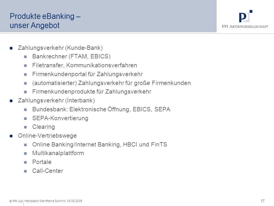 Produkte eBanking – unser Angebot