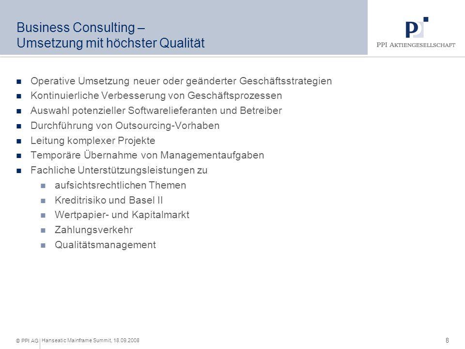 IT-Consulting – Transformation von der Fachlichkeit in die IT
