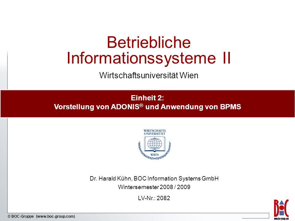 Einheit 2: Vorstellung von ADONIS® und Anwendung von BPMS