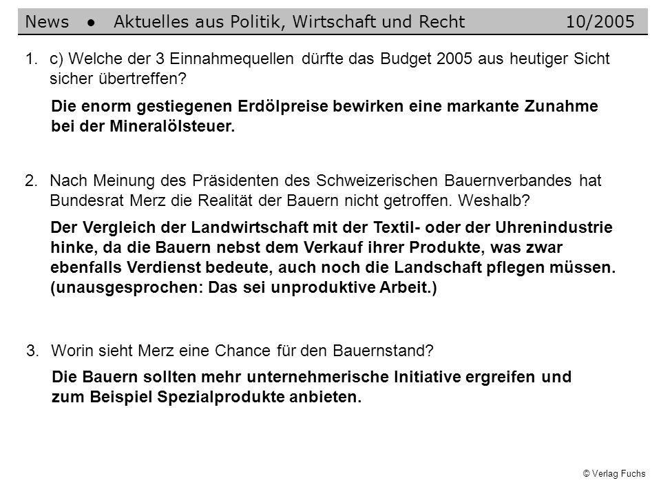 News ● Aktuelles aus Politik, Wirtschaft und Recht 10/2005