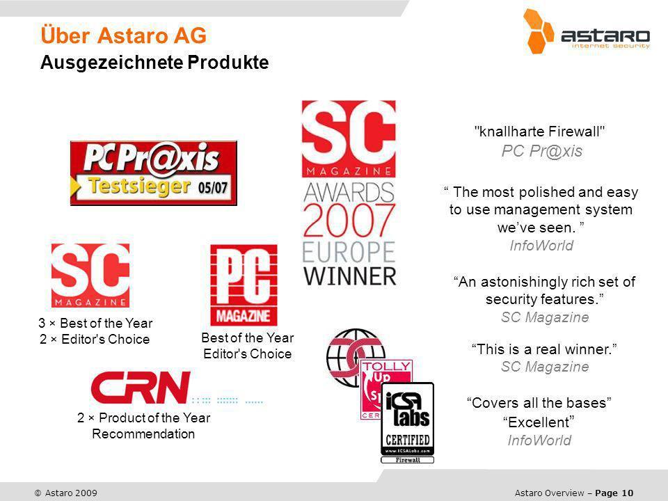 Über Astaro AG Ausgezeichnete Produkte