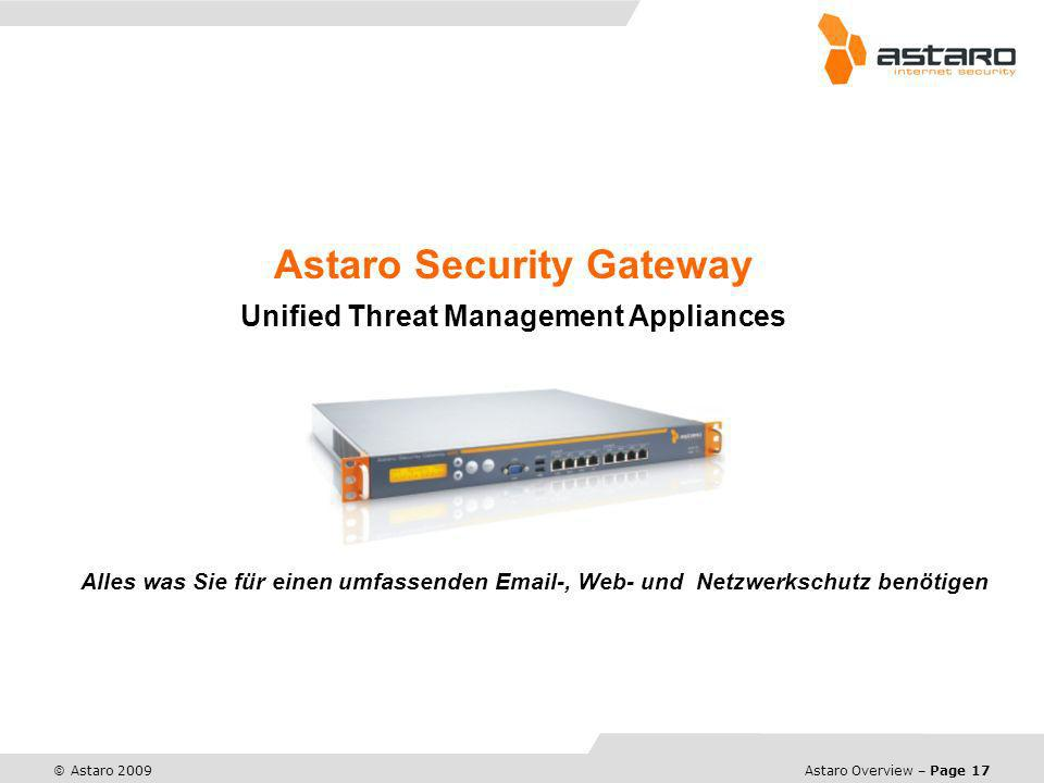 Astaro Security Gateway Unified Threat Management Appliances