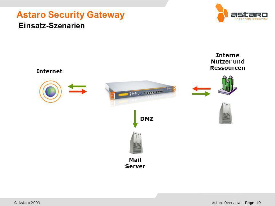Astaro Security Gateway Einsatz-Szenarien