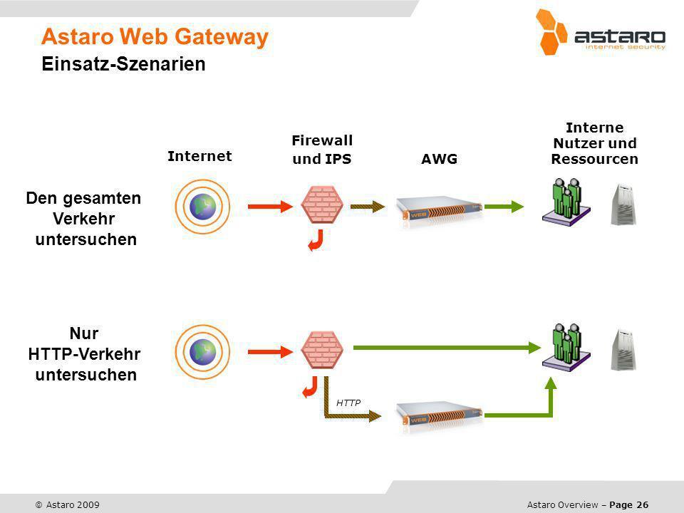 Astaro Web Gateway Einsatz-Szenarien
