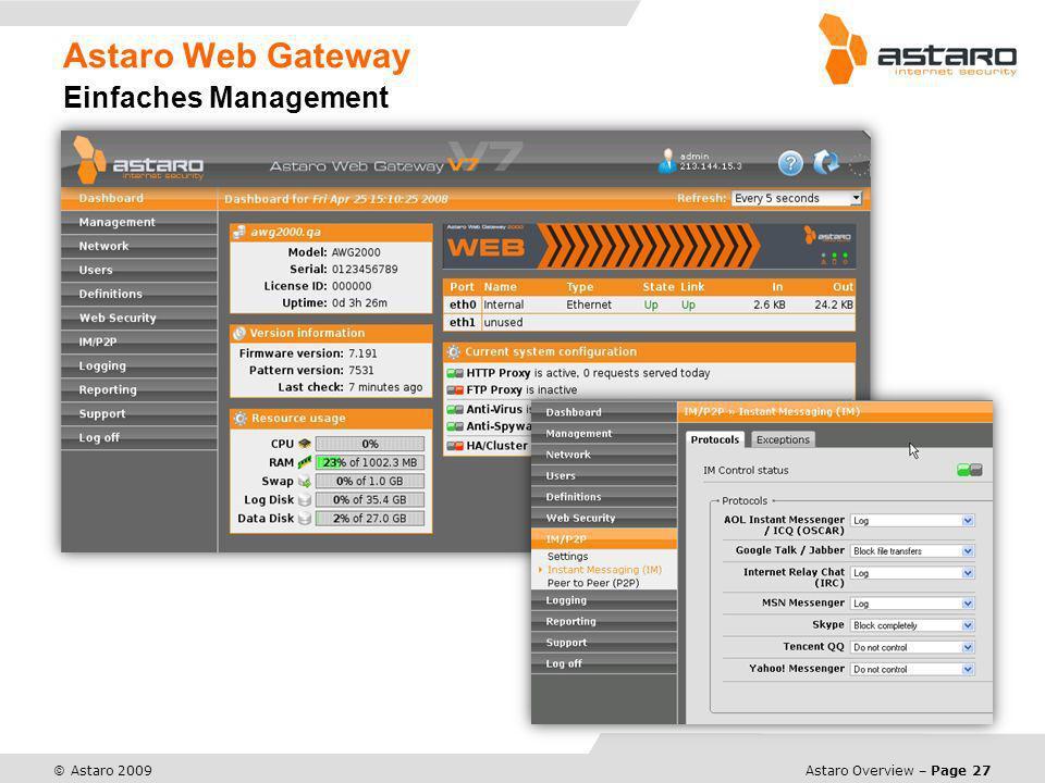 Astaro Web Gateway Einfaches Management