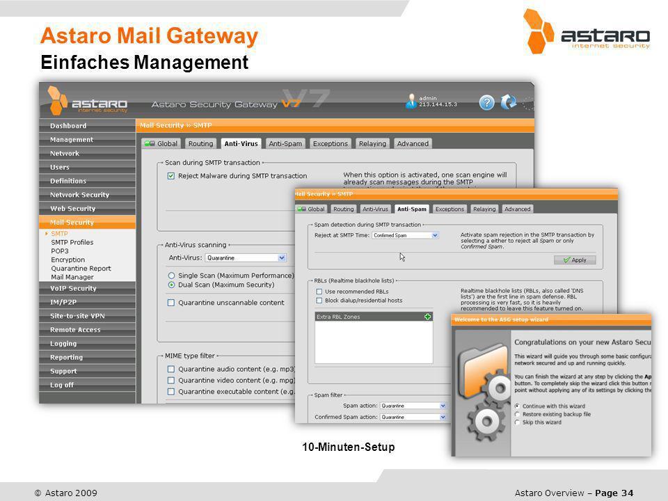 Astaro Mail Gateway Einfaches Management