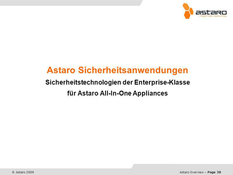 Astaro Sicherheitsanwendungen