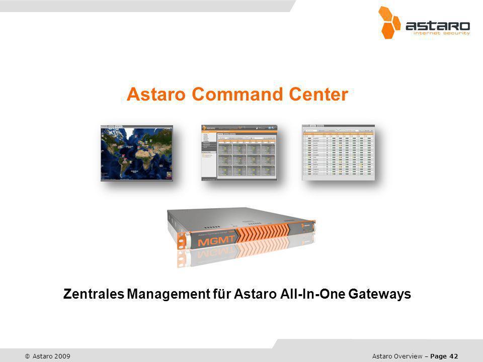 Zentrales Management für Astaro All-In-One Gateways