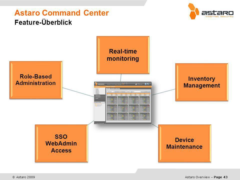 Astaro Command Center Feature-Überblick