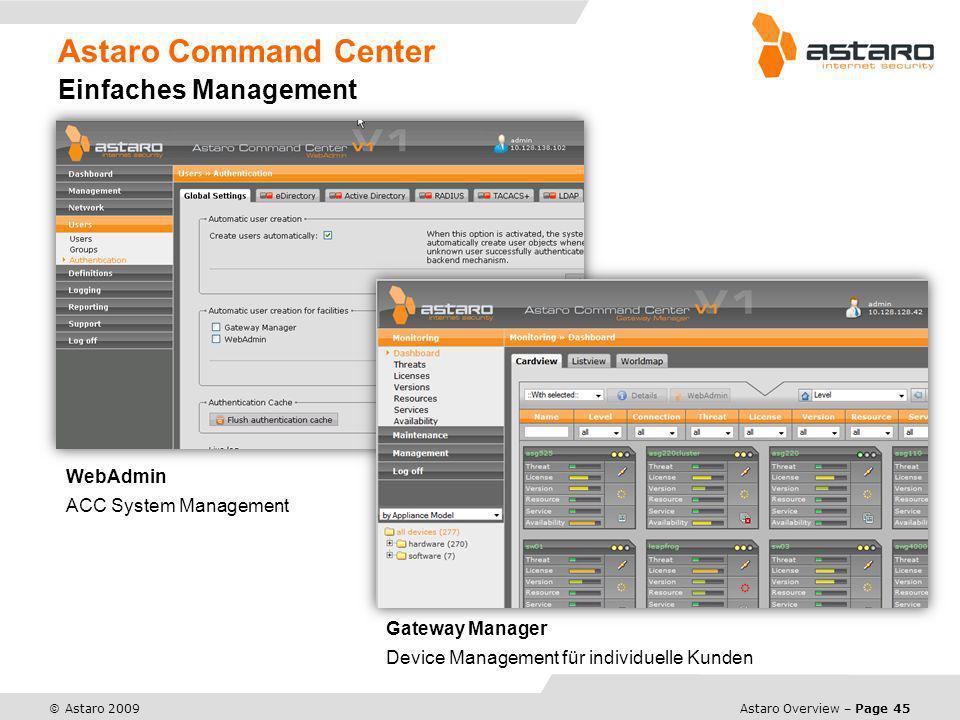 Astaro Command Center Einfaches Management