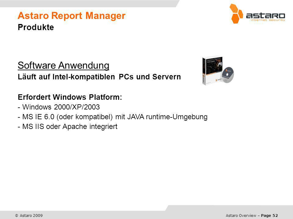 Astaro Report Manager Produkte