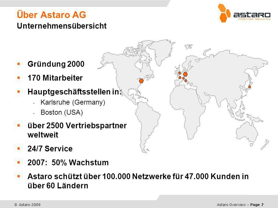 Über Astaro AG Unternehmensübersicht