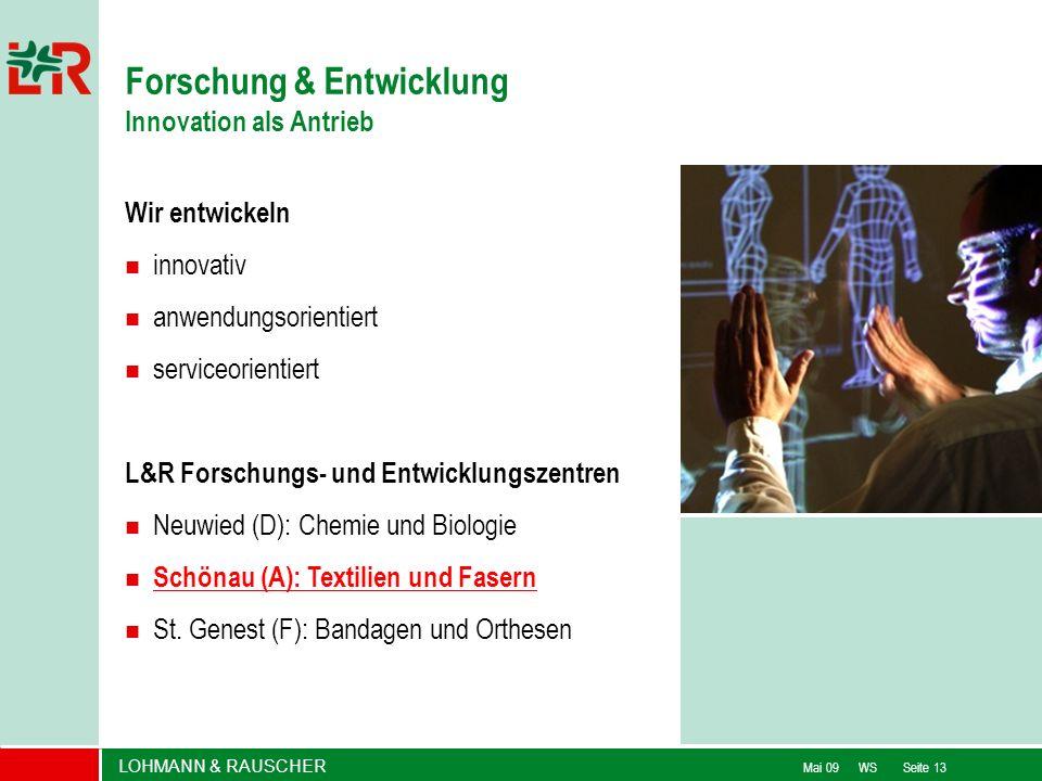 Forschung & Entwicklung Innovation als Antrieb