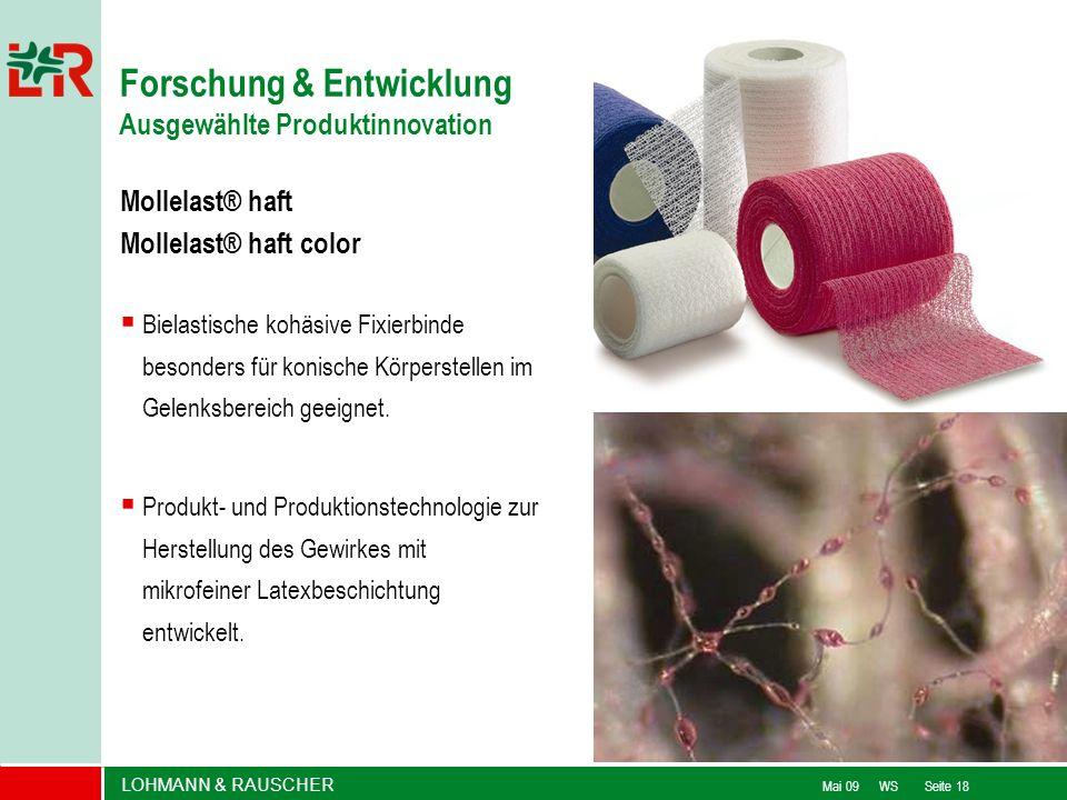 Forschung & Entwicklung Ausgewählte Produktinnovation