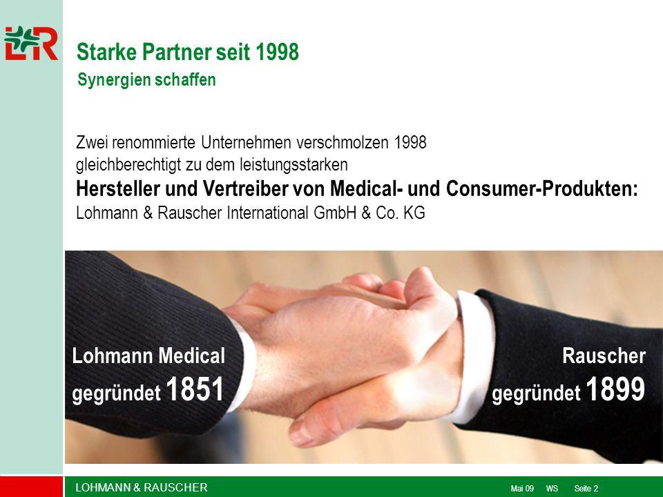 Starke Partner seit 1998 Synergien schaffen. Zwei renommierte Unternehmen verschmolzen 1998 gleichberechtigt zu dem leistungsstarken.