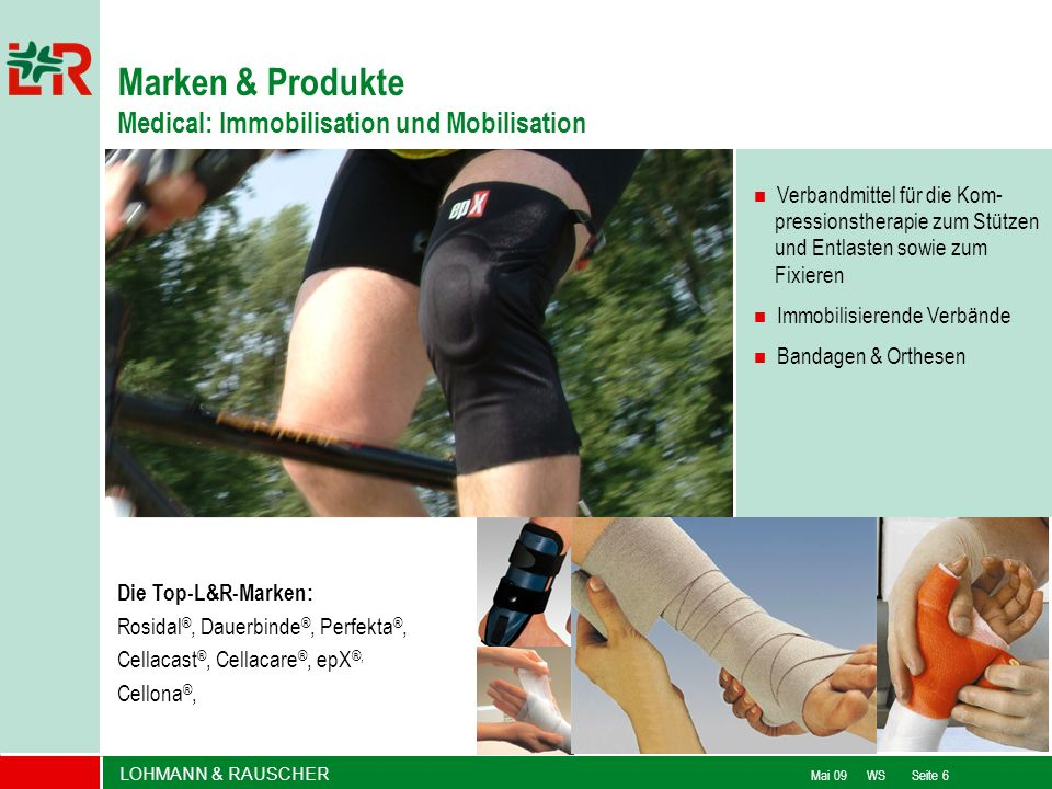 Marken & Produkte Medical: Immobilisation und Mobilisation