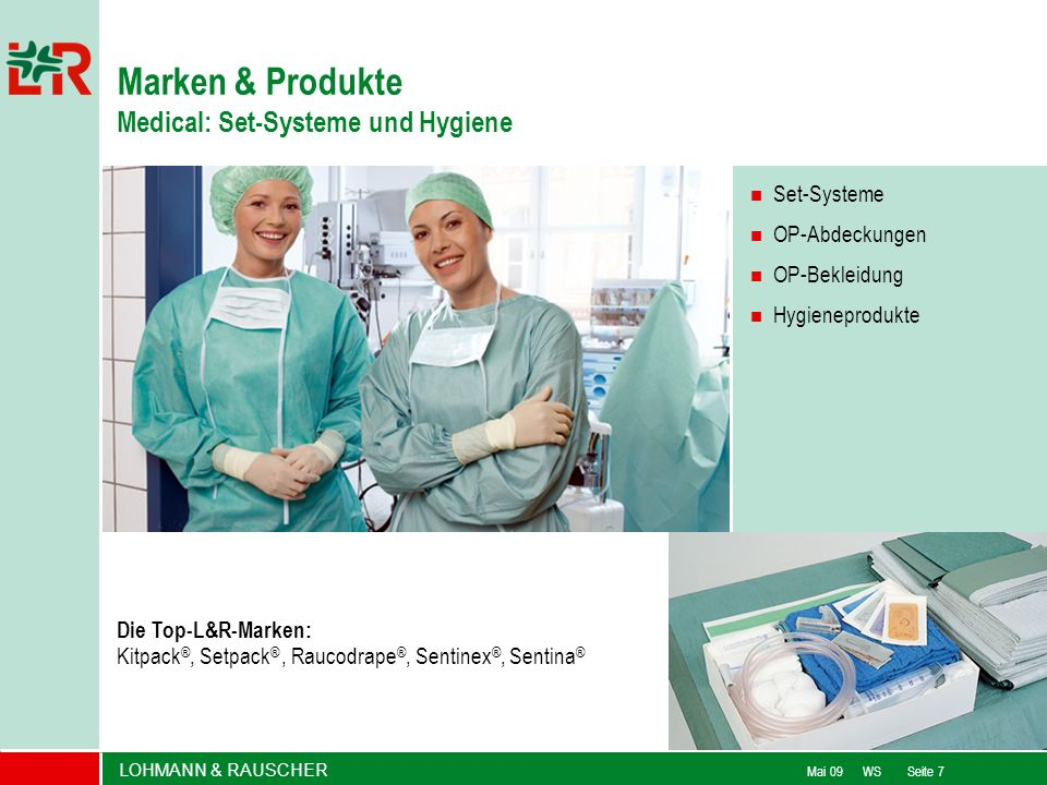 Marken & Produkte Medical: Set-Systeme und Hygiene