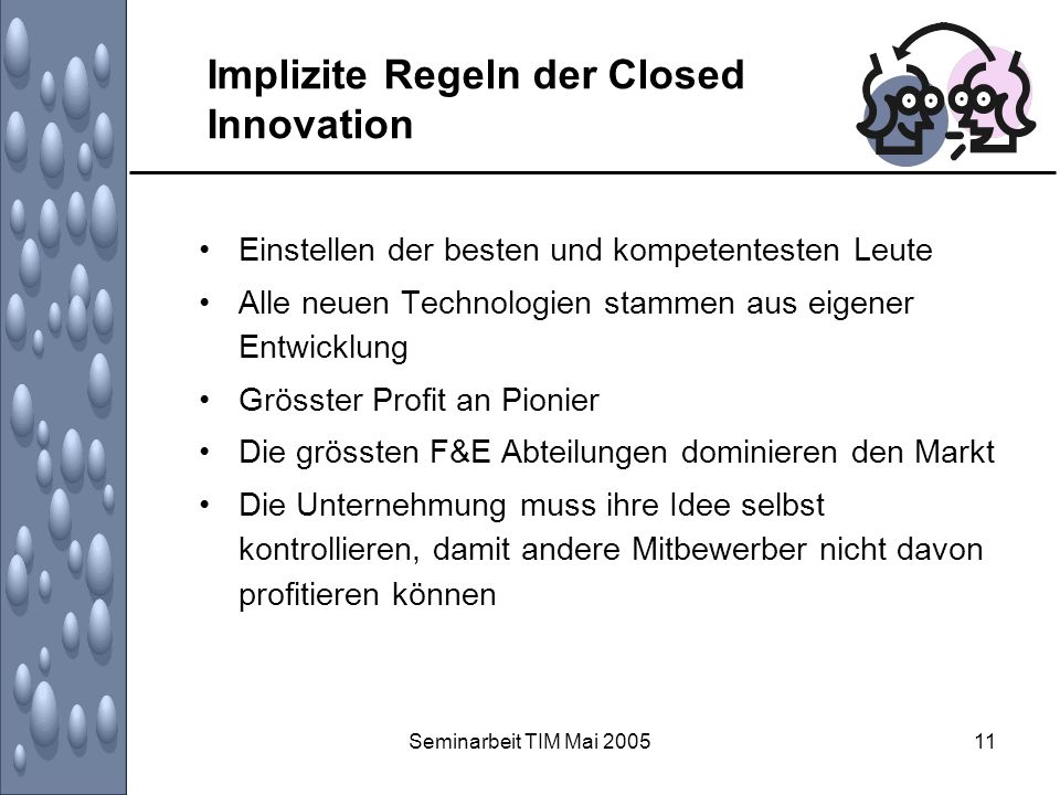 Implizite Regeln der Closed Innovation