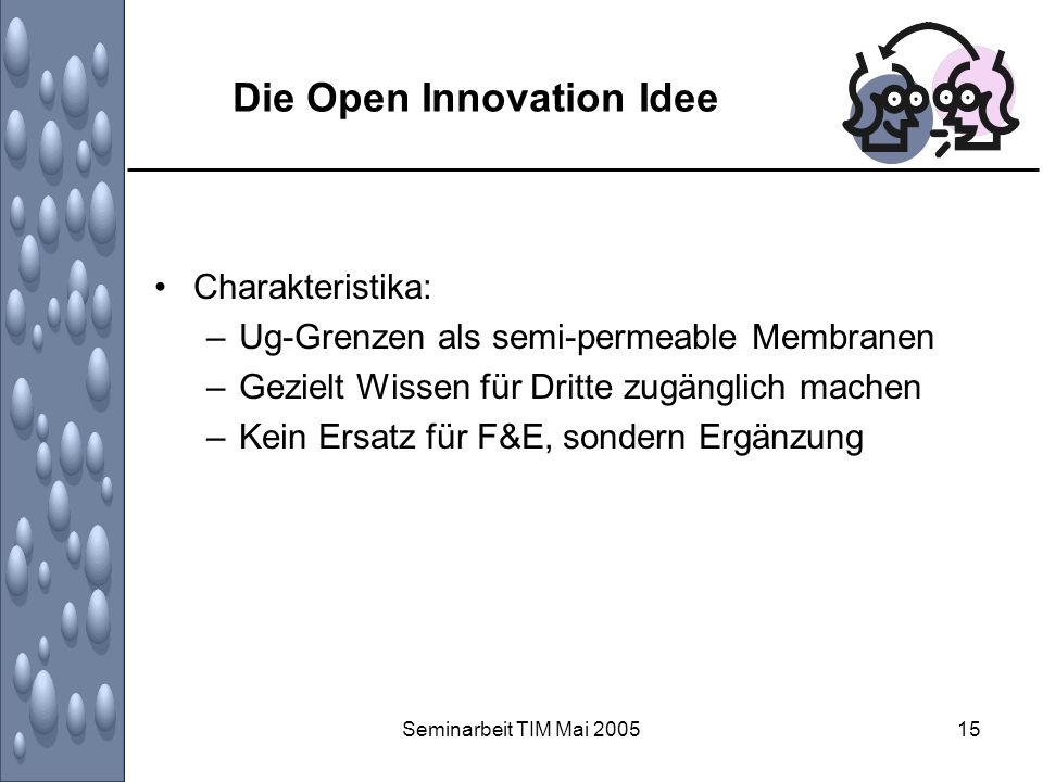 Die Open Innovation Idee