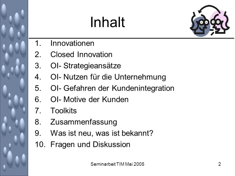 Inhalt Innovationen Closed Innovation OI- Strategieansätze