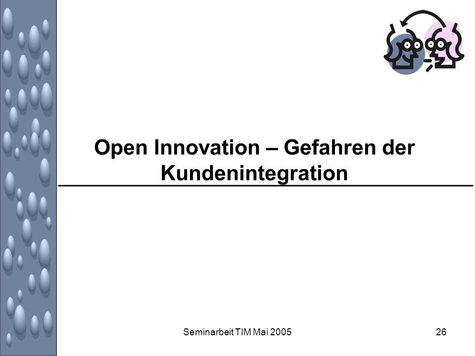 Open Innovation – Gefahren der Kundenintegration