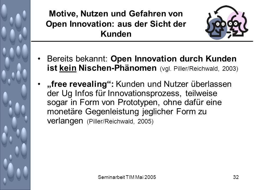 Motive, Nutzen und Gefahren von Open Innovation: aus der Sicht der Kunden